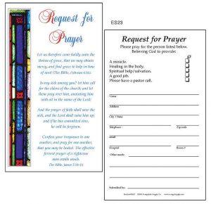 prayer card template es