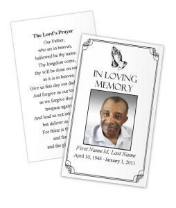 prayer card template prayer card praying hands