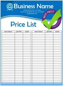 prayer list template price list template rrghwq