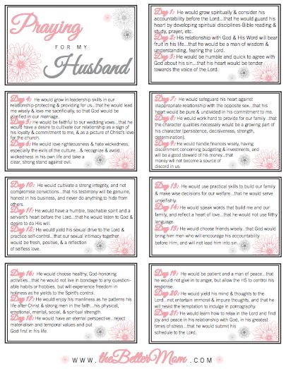 prayer list template