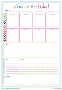 prayer lists template peek at the week i heart organizing