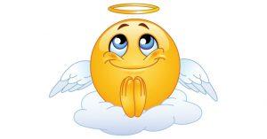 praying emoji copy and paste angel