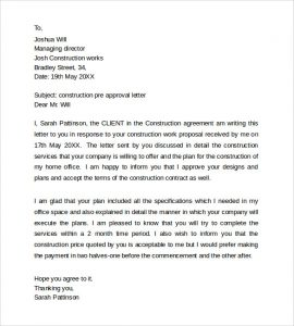 Pre Approval Letter Sample - Template Business