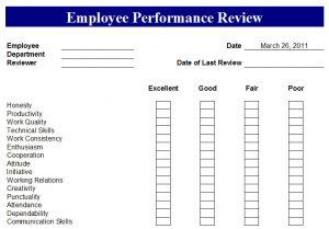 preformance review forms printable employee performance review forms