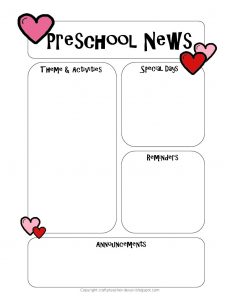 prek lesson plan template newsletter templatefeb