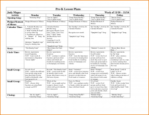 prek lesson plan template pre k lesson plan template
