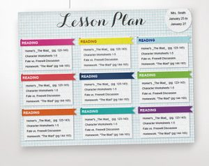 prek lesson plan templates il x y