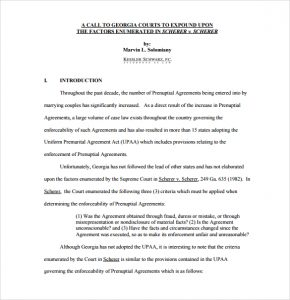prenup agreement examples prenuptial agreement form