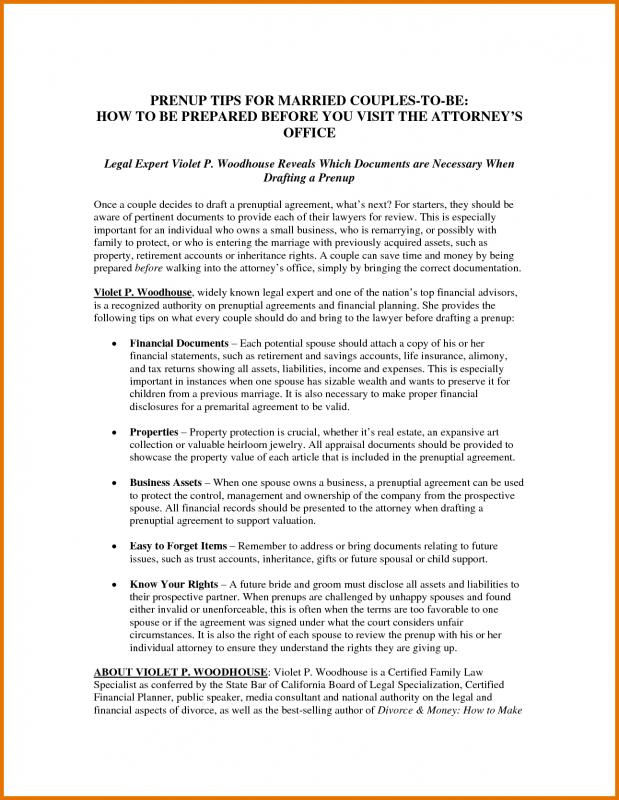 prenup agreements template