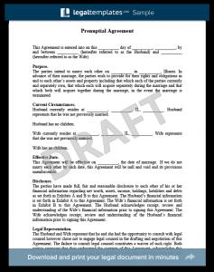 prenuptial agreement sample prenuptial agreement