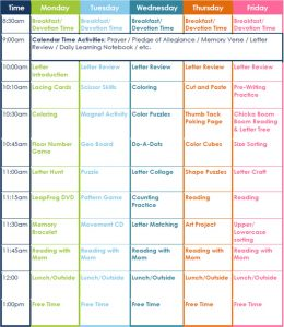 preschool lesson plans preschool lesson plan daily schedule