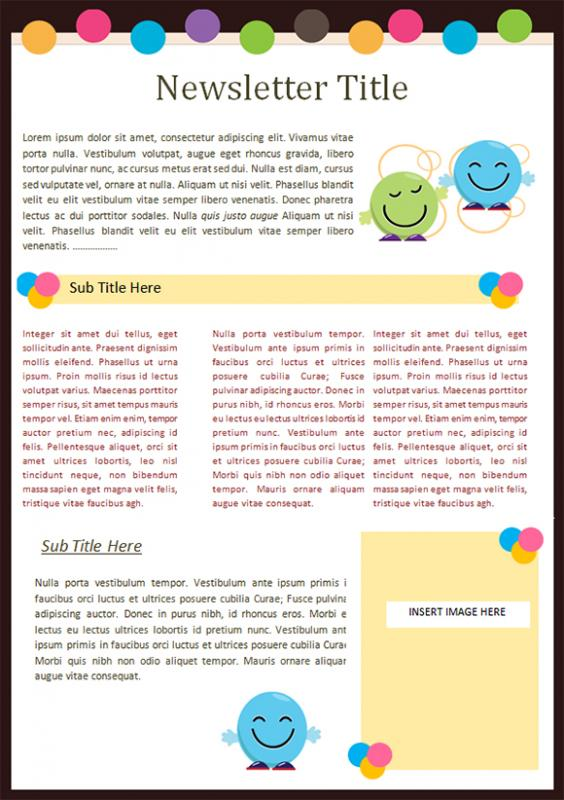 preschool newsletter template template business. Black Bedroom Furniture Sets. Home Design Ideas