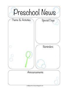 preschool newsletter template bubblenewsletter