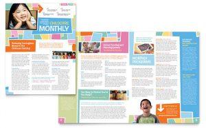 preschool newsletter template et s