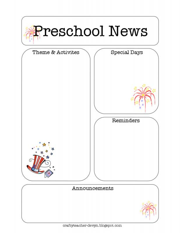 Preschool Newsletter Template  Template Business