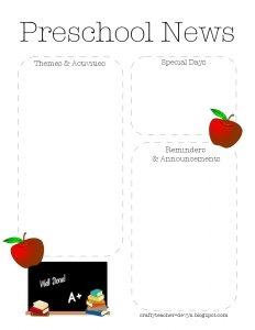 preschool newsletter template preschoolnewsletter
