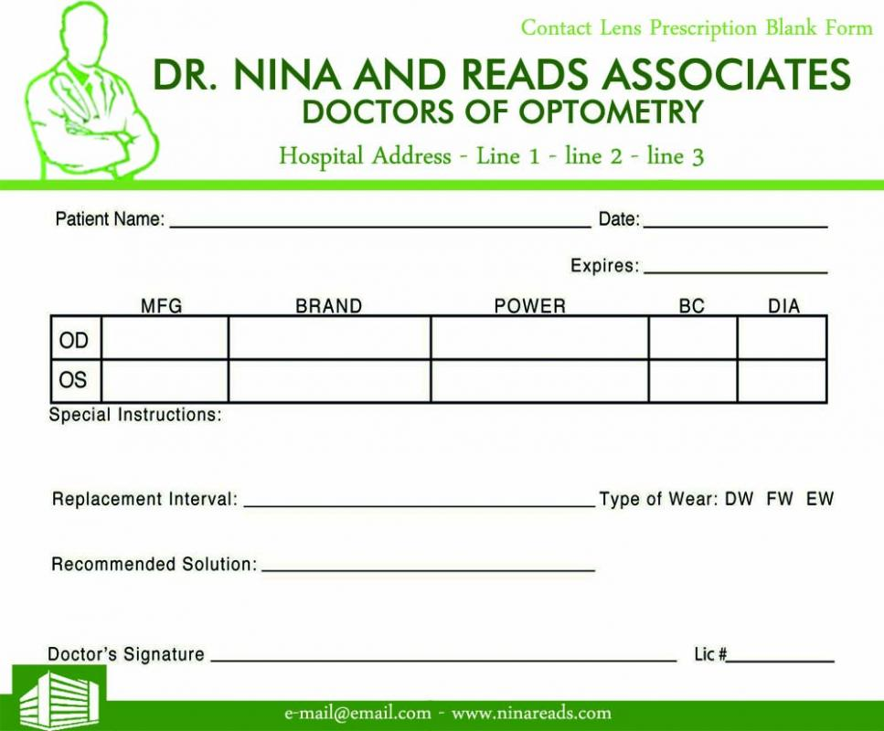 prescription pad template