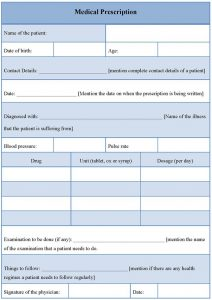 Prescription pad template template business for Prescription pad template download