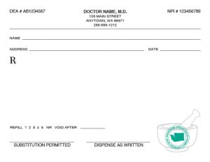 prescription pad template washington state prescription pads