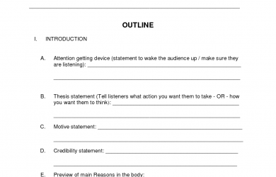 presentation outline template informative speech outline template etscyox