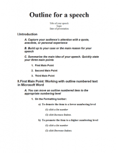 presentation outline template lt