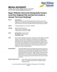 press release template word media advisory rwu event