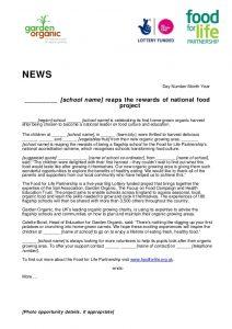 press release templates press release templates for school gardens