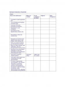 press release templates sample induction checklist d