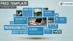 prezi presentation example content wall creative tiles rectangles windows simple professional prezi templates