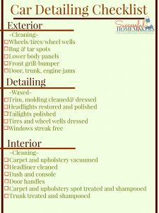 price sheet template car detailing checklist graphic printable