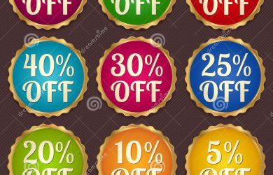 price tag template set colorful sale banners labels discount tag vector coupon template layout gold frame border bright design sticker web