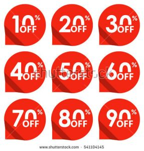 price tag template stock photo sale tag set percent off price off and discount tag design elements