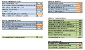 pricing sheet template costcalculator