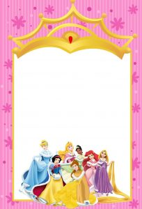 princess invitation template printable disney princesses invitations