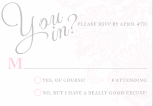 princess invitation template rsvp
