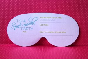 princess invitation template spa mask invitation printable