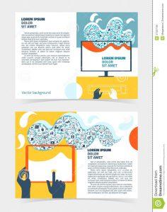 print newsletter templates flyer leaflet booklet layout editable design template two sides