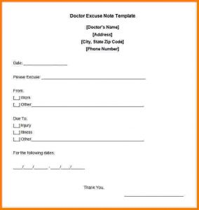 print out doctors excuse free printable doctors note for work free doctor excuse note template
