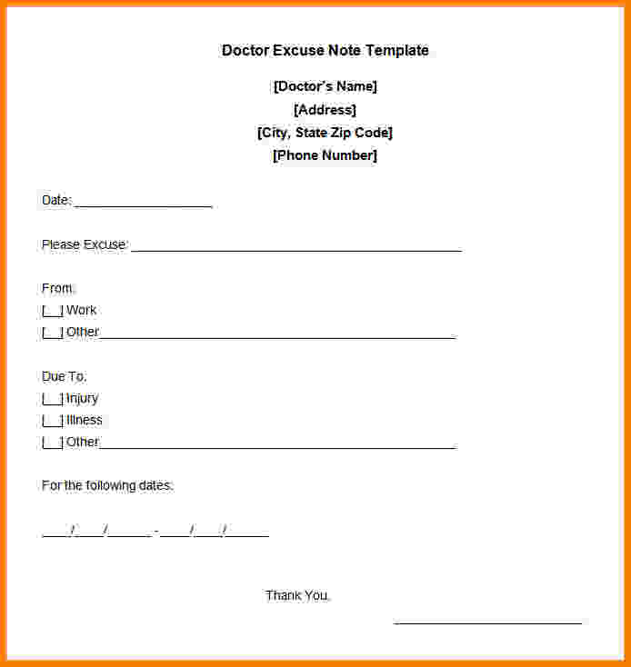 print out doctors excuse