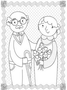 print out sympathy card happy grandparent's day coloring pages