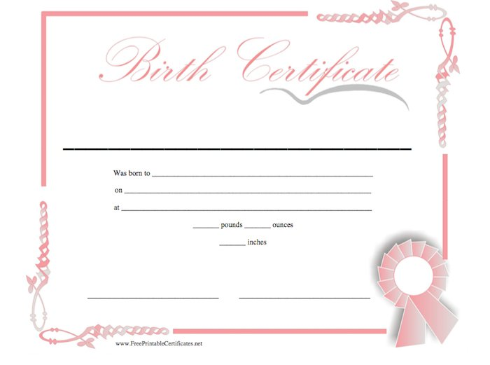 printable birth certificate