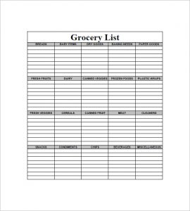 printable blank grocery list blank grocery shopping list