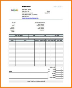 printable cash receipt bangalore hotel bill format in pdf printable blank hotel receipt template pdf format