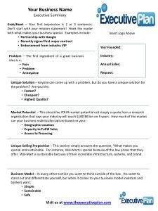 printable cash receipt executive summary of a business plan template samples templates blog regarding short business plan template