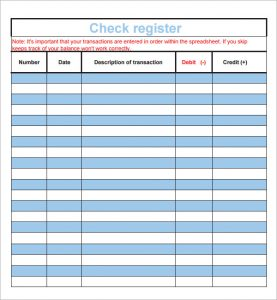 printable check registers check register template for numbers
