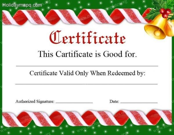 image relating to Free Printable Christmas Gift Certificates named Printable Xmas Reward Certificates Template Business enterprise