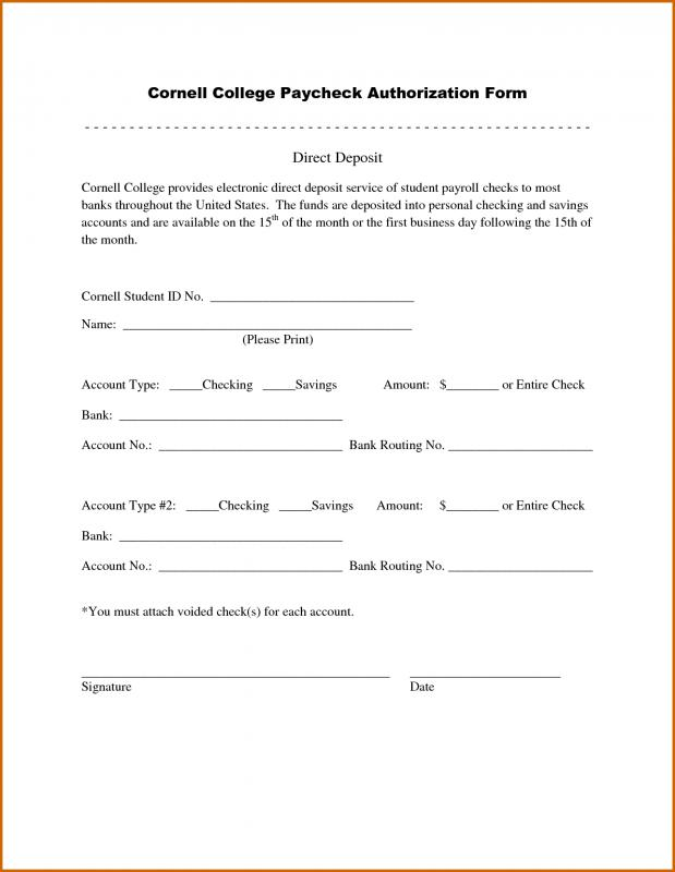 printable direct deposit form