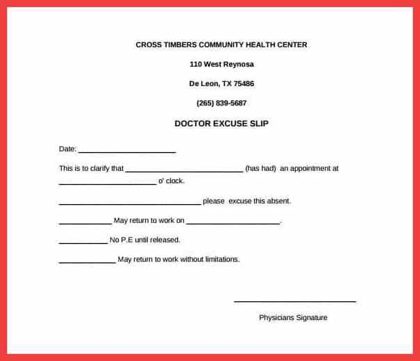 printable doctor note