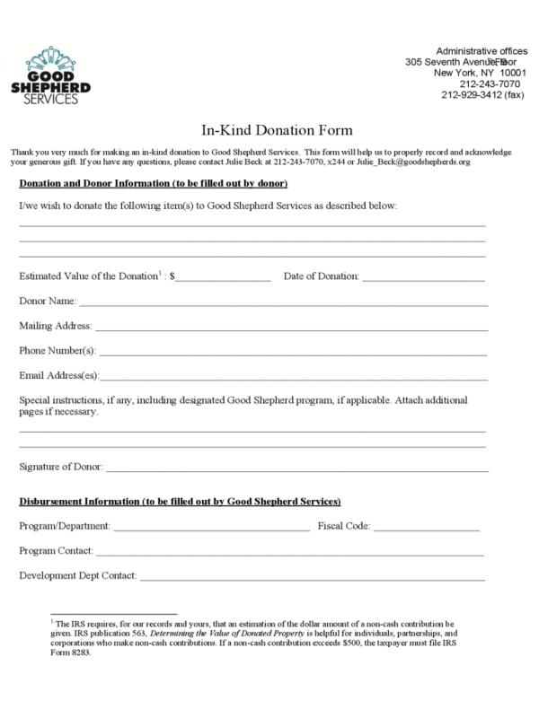 Printable Donation Form Template  Template Business