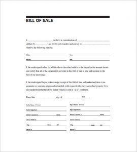 printable general bill of sale printable paper template bill of sale general purpose